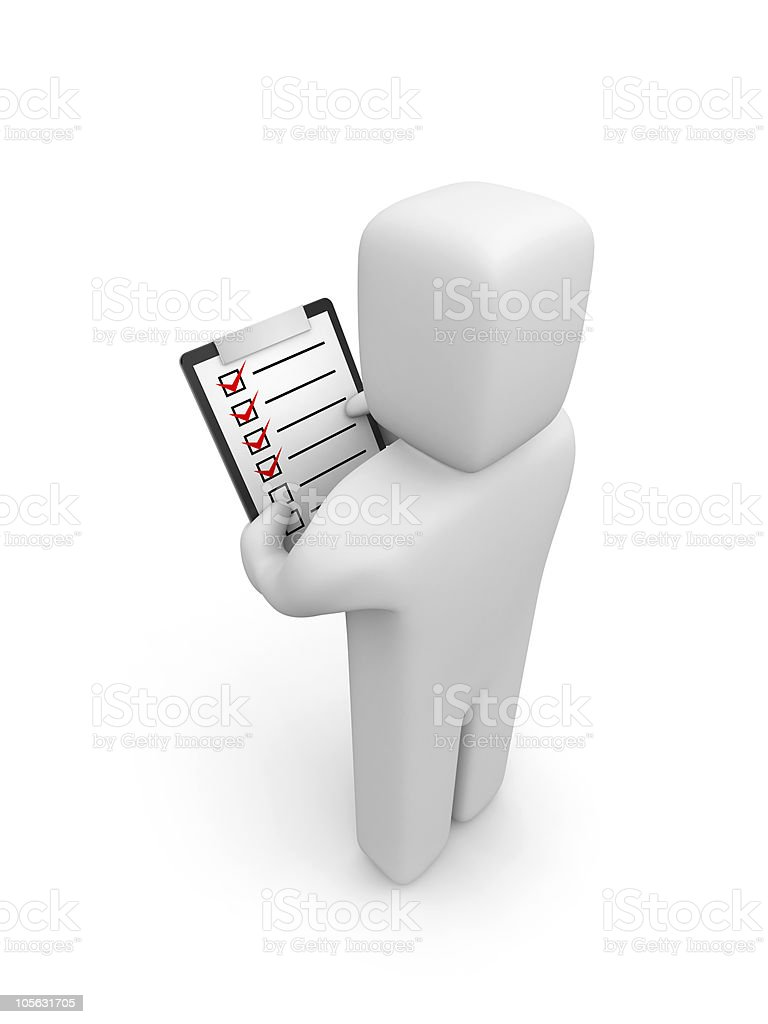 Person hold clipboard royalty-free stock photo