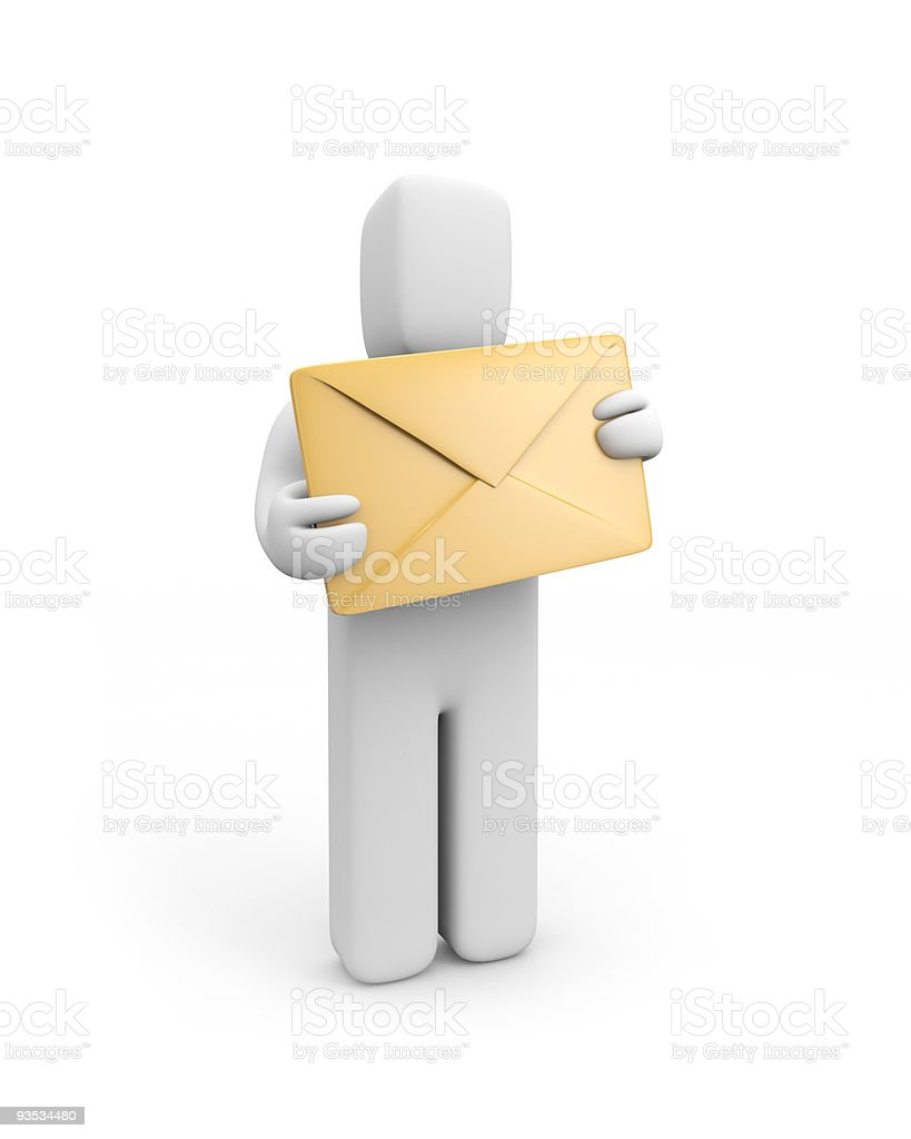 Person hold envelope royalty-free stock photo