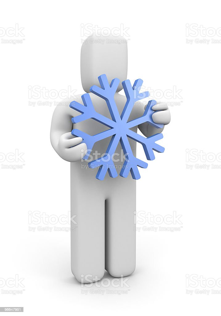 Person hold snowflake royalty-free stock photo