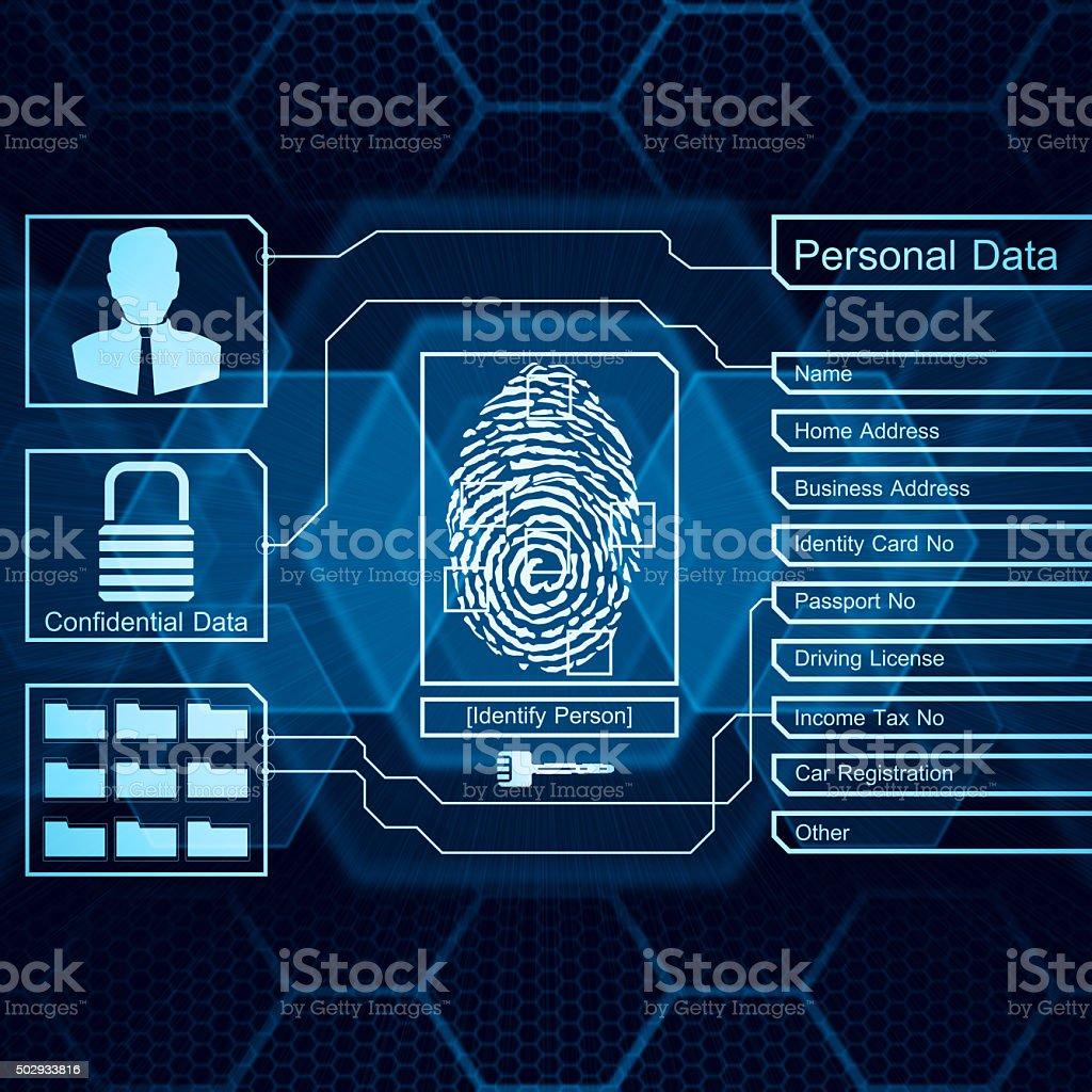 Person identity stock photo