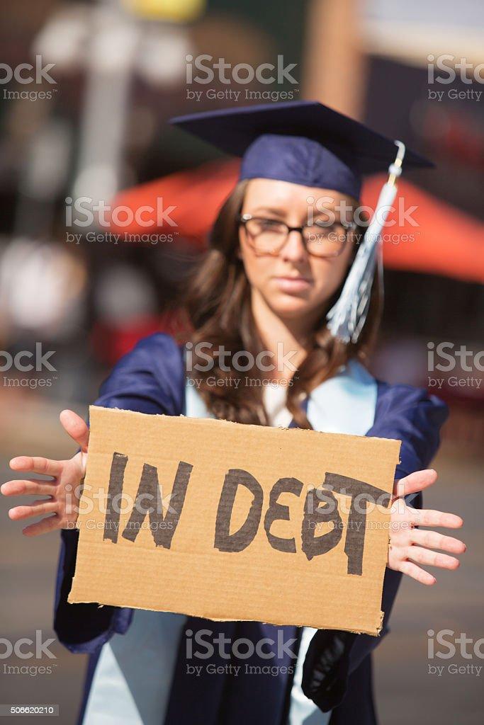 Person in Debt stock photo