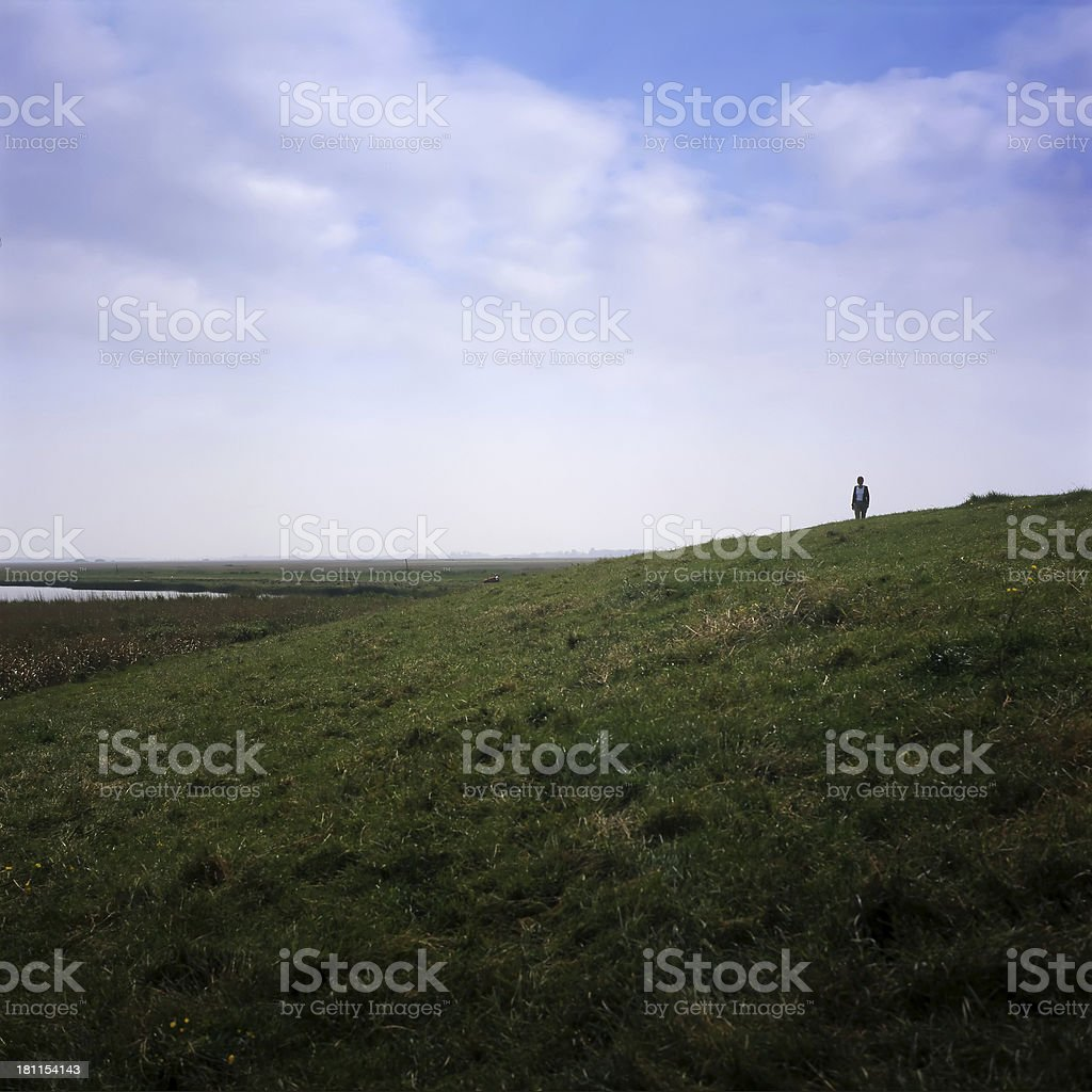 Person Looking at a Landscape royalty-free stock photo