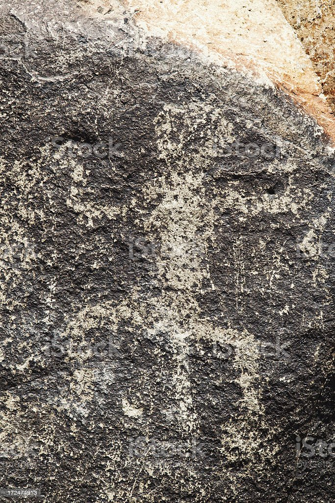 Person Pictograph - Three Rivers Petroglyph Site royalty-free stock photo