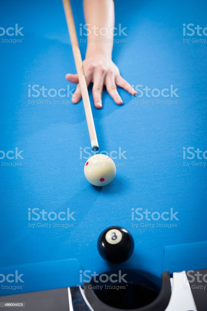 Person Playing Billiards stock photo