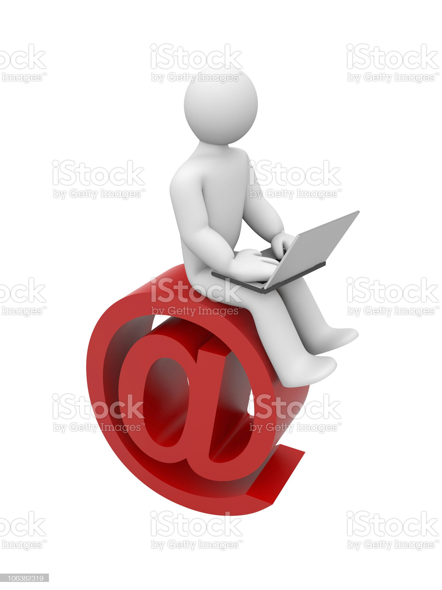 Person read emails or surfing in internet royalty-free stock vector art