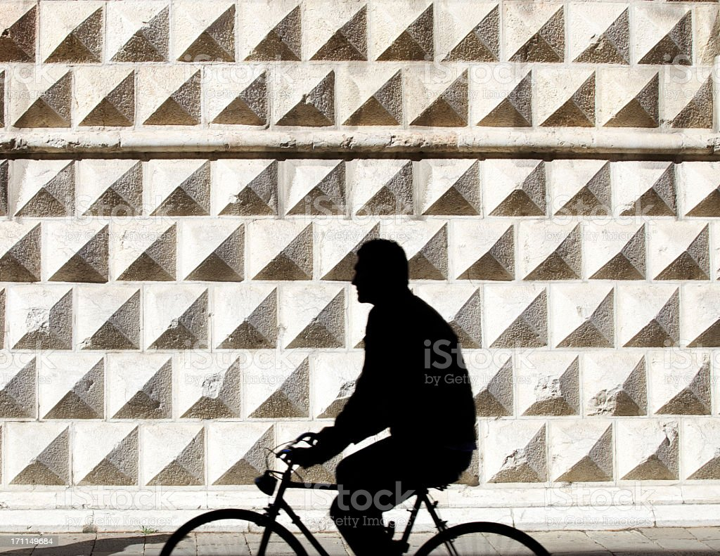 Person Riding Bicycle stock photo