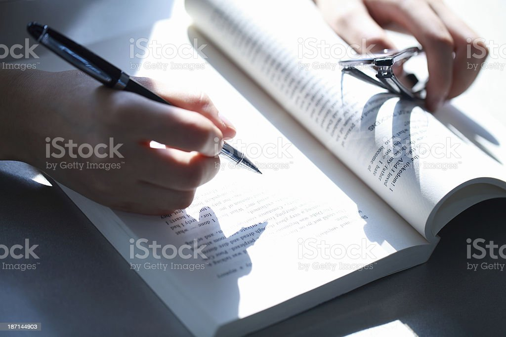 Person Studying stock photo
