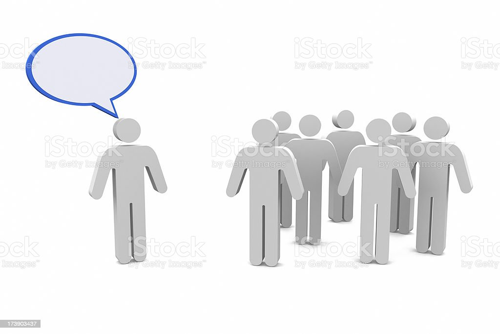 Person Talking stock photo