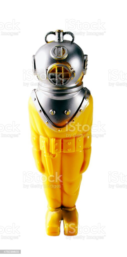Person Wearing Diving Helmet stock photo