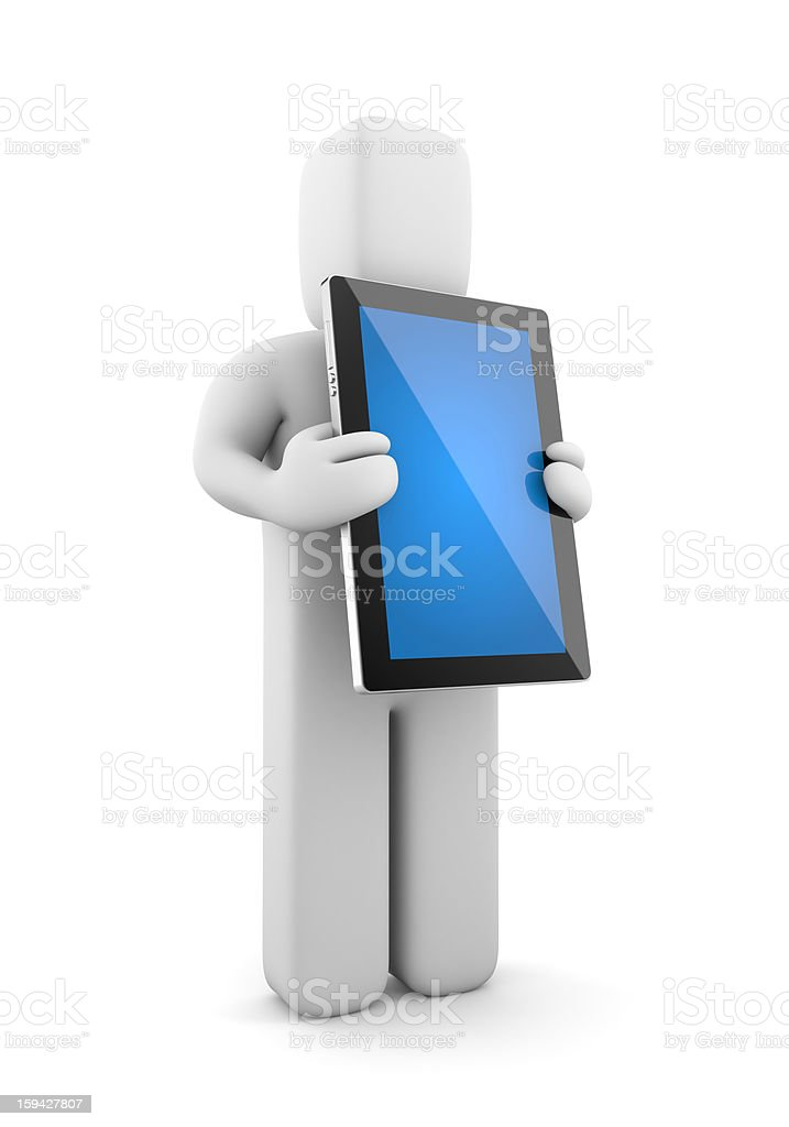 Person with tablet computer royalty-free stock photo