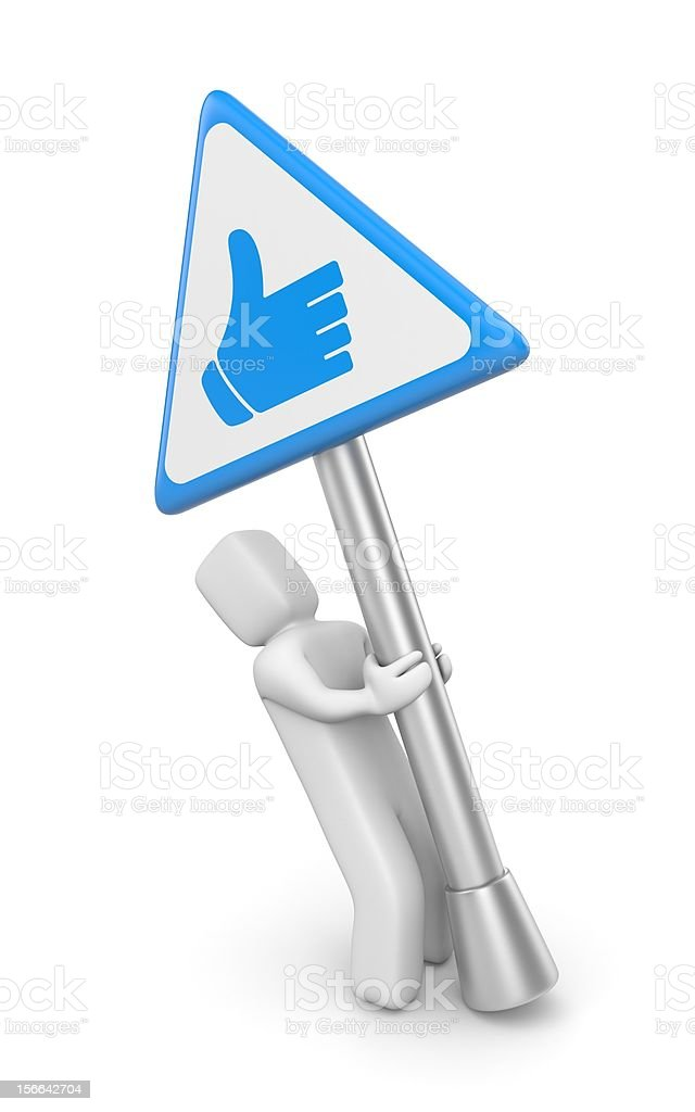 Person with thumb up sign royalty-free stock photo