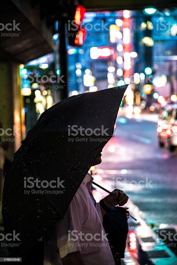 사람, 우산 도쿄 royalty-free 스톡 사진