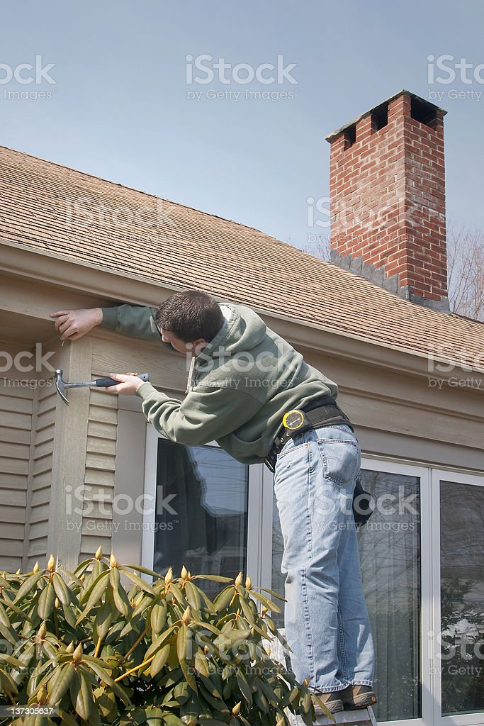 Person Working On Home royalty-free stock photo