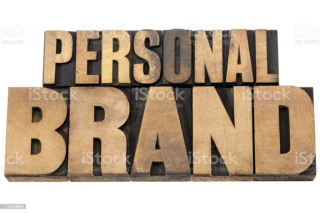personal brand in wood type royalty-free stock photo