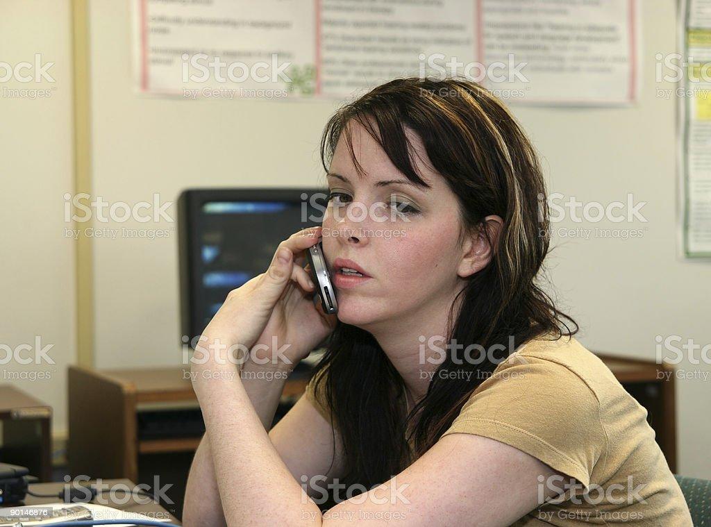 Personal Calls at Work royalty-free stock photo