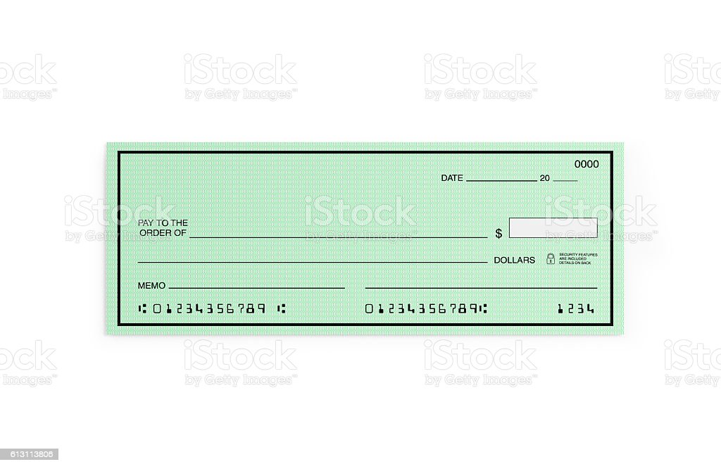 Personal Check with Altered Numbers Isolated on White vector art illustration