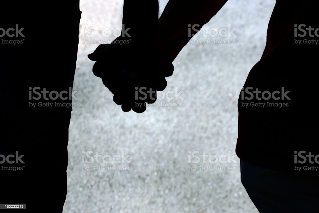 Personal Connection: Holding Hands royalty-free stock photo