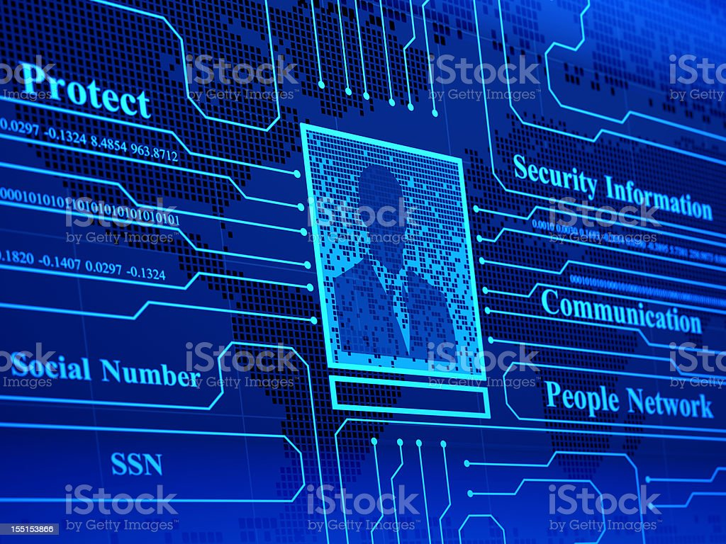 Personal Cyber Security royalty-free stock photo