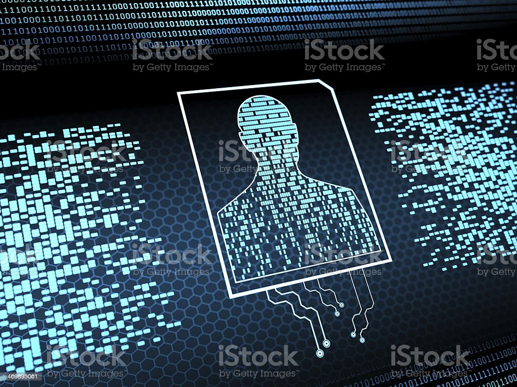 Personal Cyber Security vector art illustration