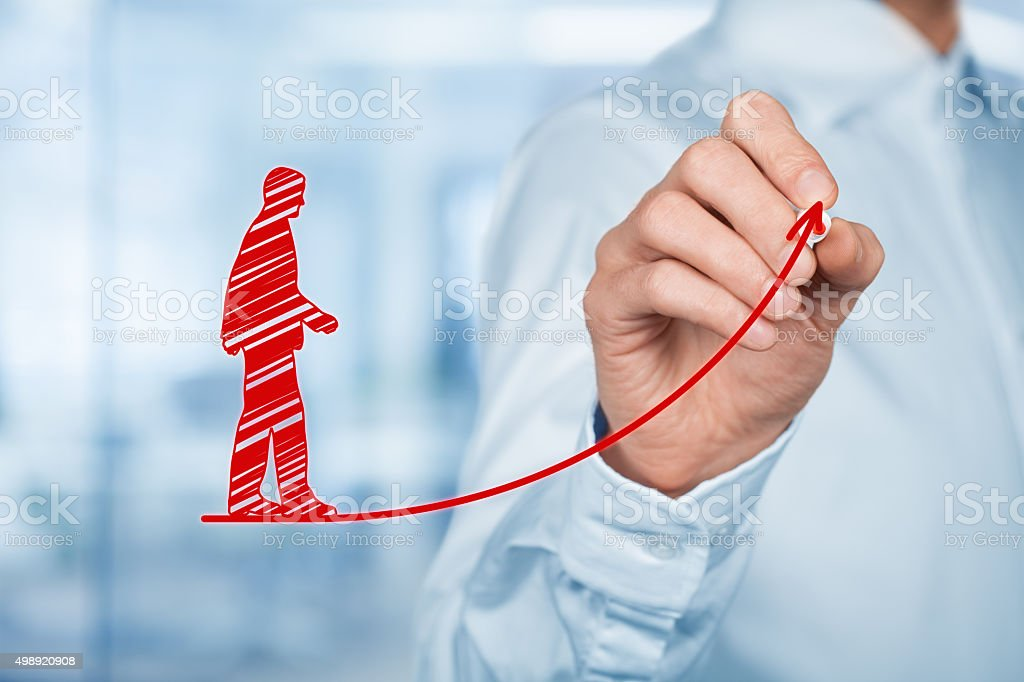 Personal development career stock photo