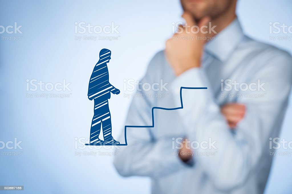 Personal development career stock photo