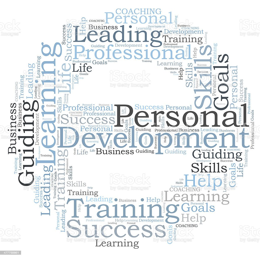 Personal development word cloud stock photo