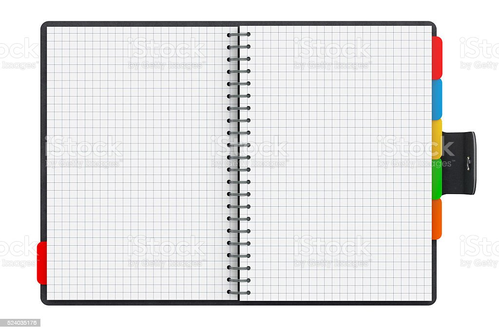 Personal Diary or Organiser Book with Blank Pages. 3d Rendering stock photo