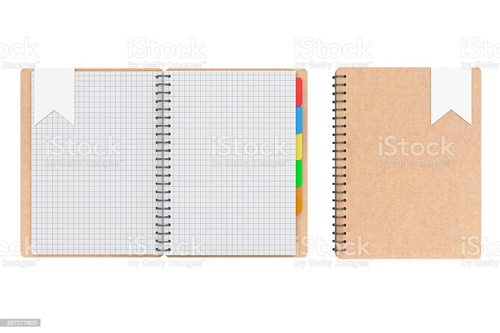 Personal Diary or Organiser Books with Blank Pages. 3d Rendering stock photo