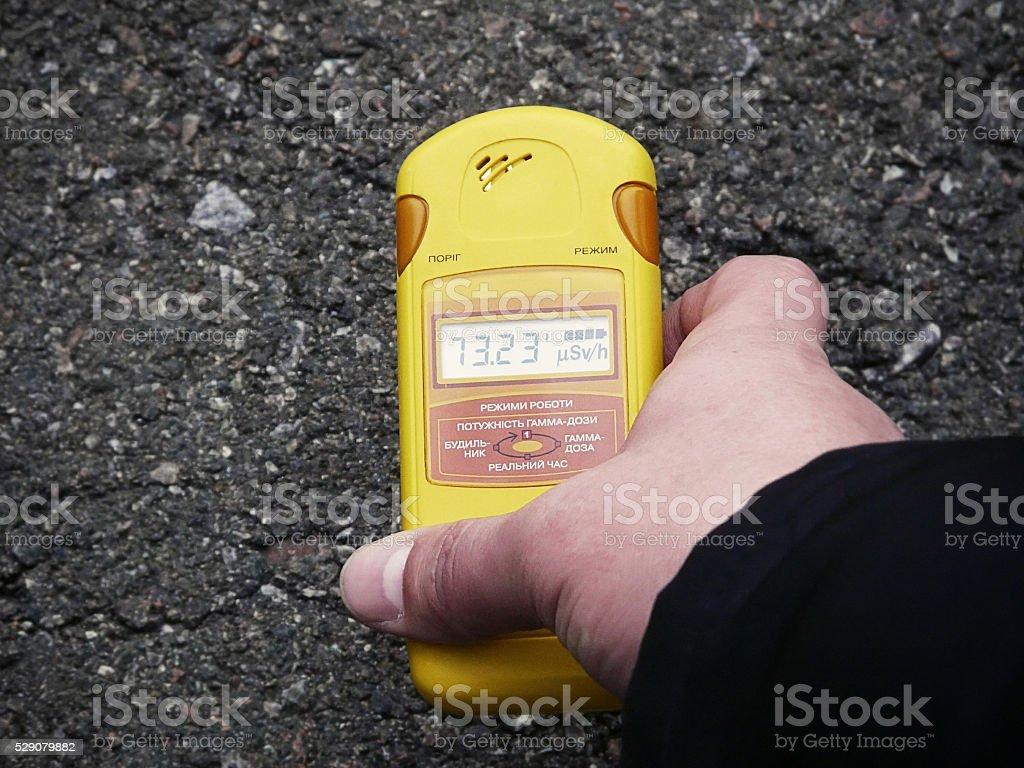 Personal dosimeter stock photo
