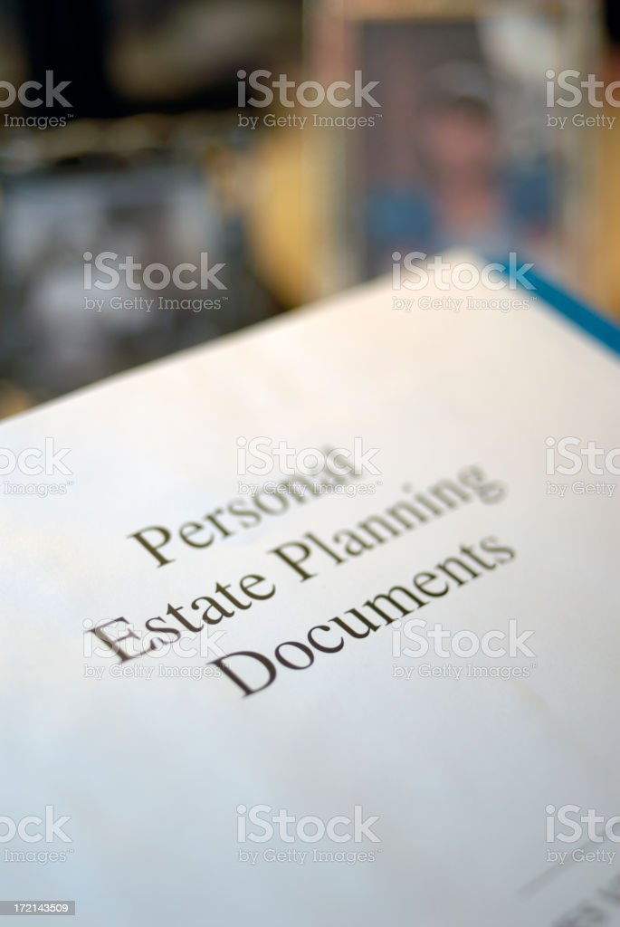 Personal Estate Documents. stock photo