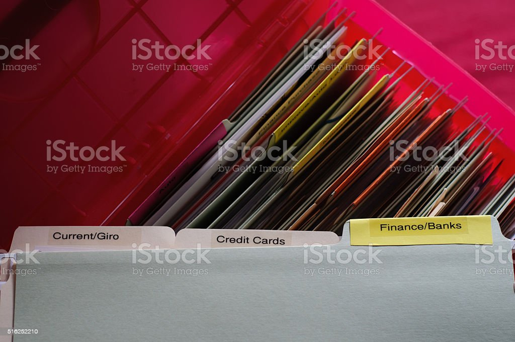 Personal Financial Documents stock photo