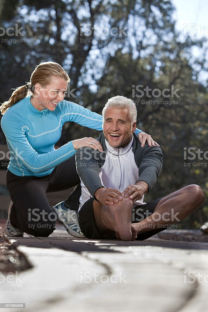 Personal fitness trainer royalty-free stock photo
