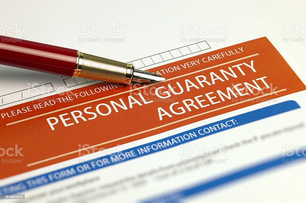 Personal Guaranty Agreement royalty-free stock photo