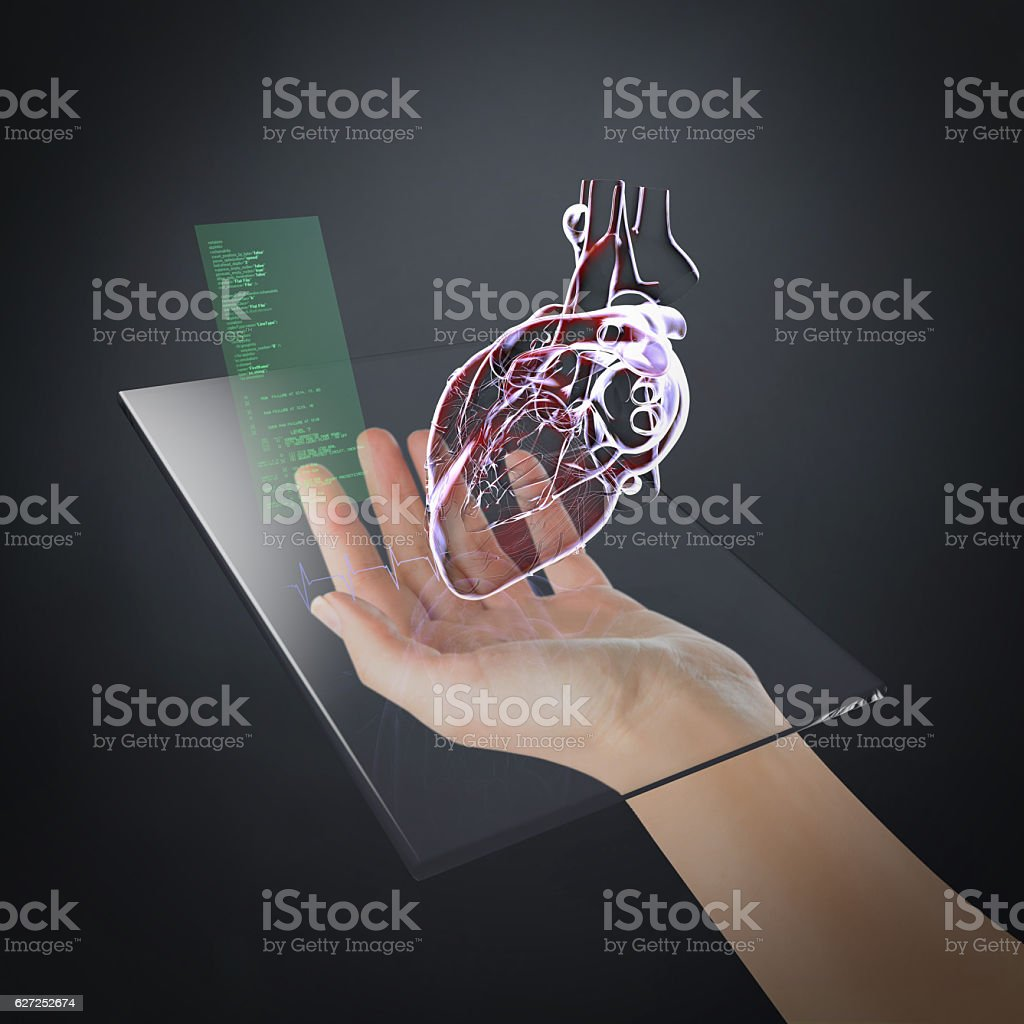 Personal Heart Health Control Technology stock photo