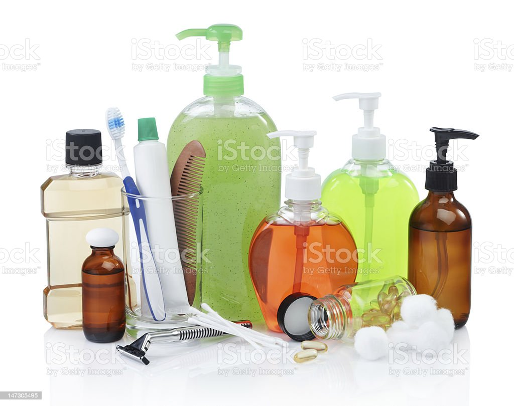 personal hygiene products royalty-free stock photo