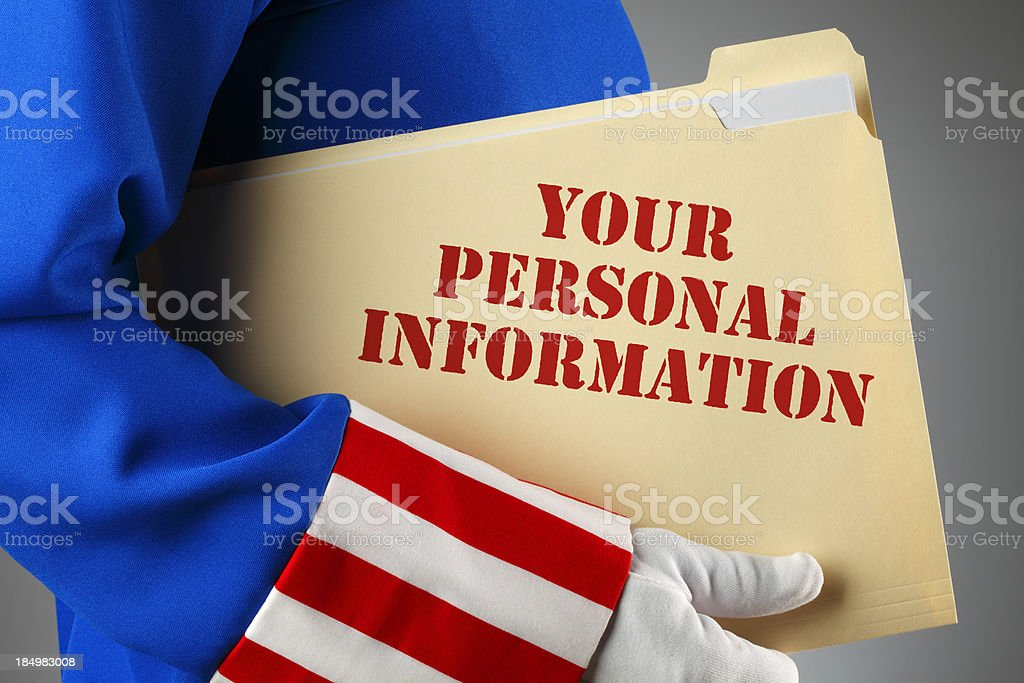 Personal Information stock photo