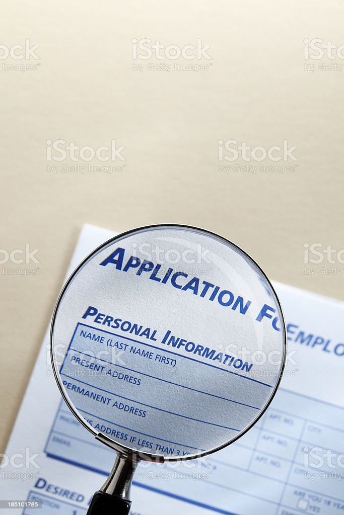 Personal Information royalty-free stock photo