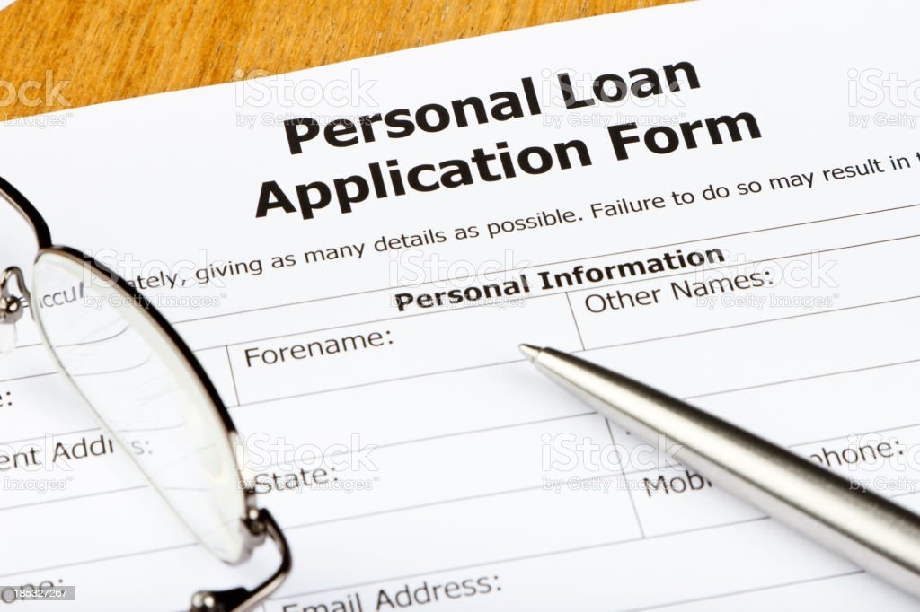 Personal Loan Application Close-up royalty-free stock photo