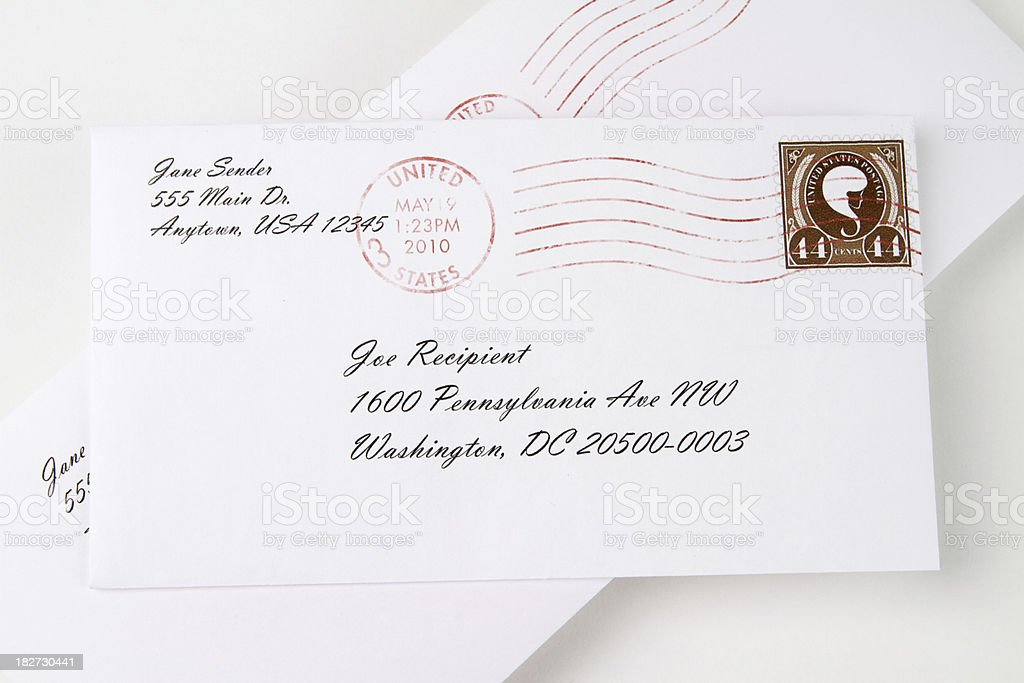 Personal Mail stock photo