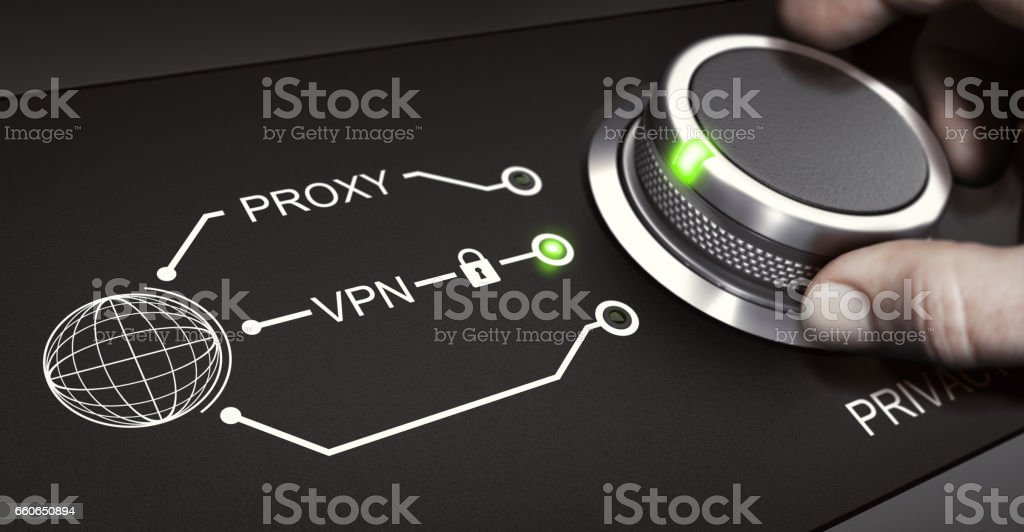 VPN, Personal Online Security, Virtual Private Network stock photo