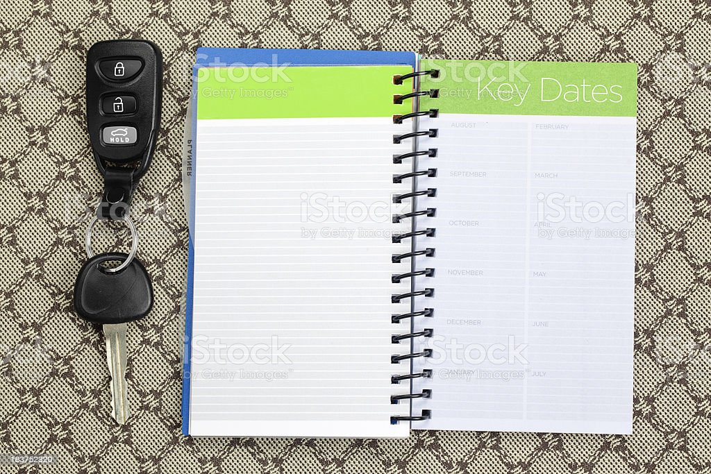 Personal Organizer: Blank Page stock photo