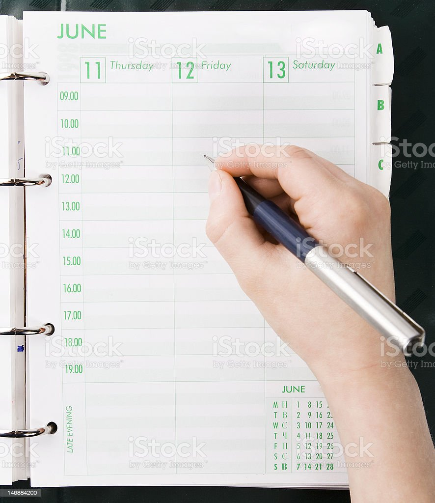 Personal Organizer royalty-free stock photo