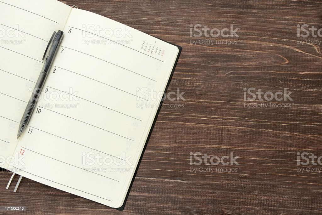 Personal organizer stock photo