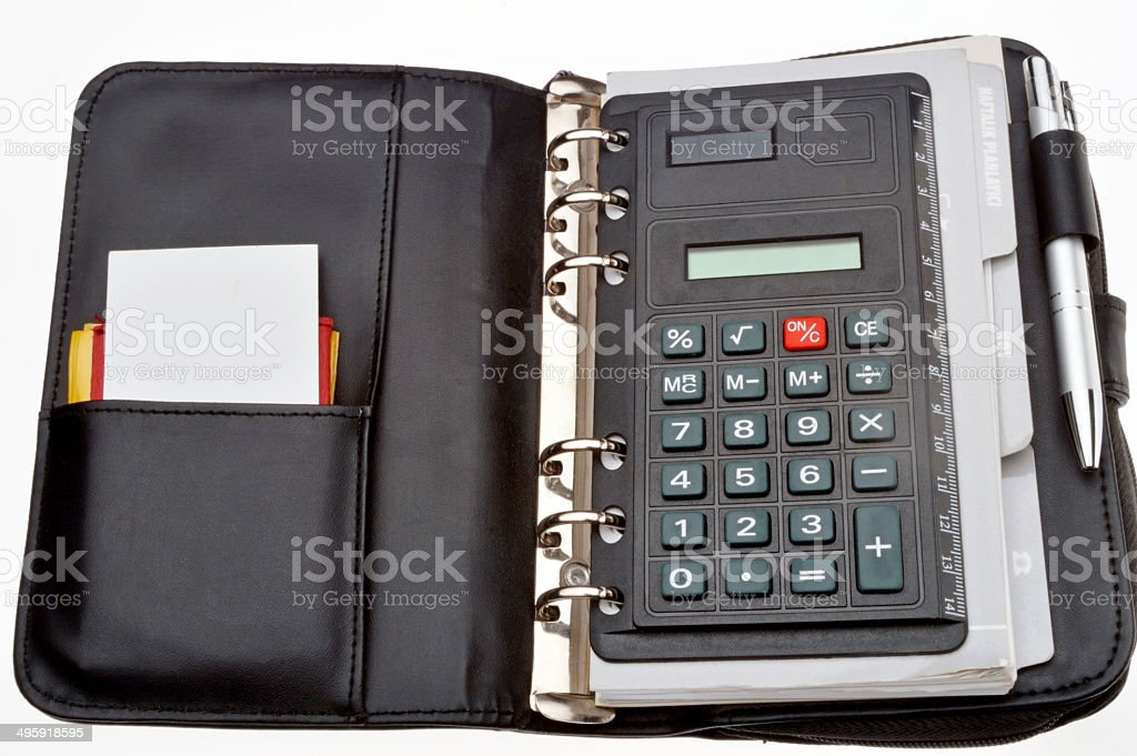 personal organizer stock photo