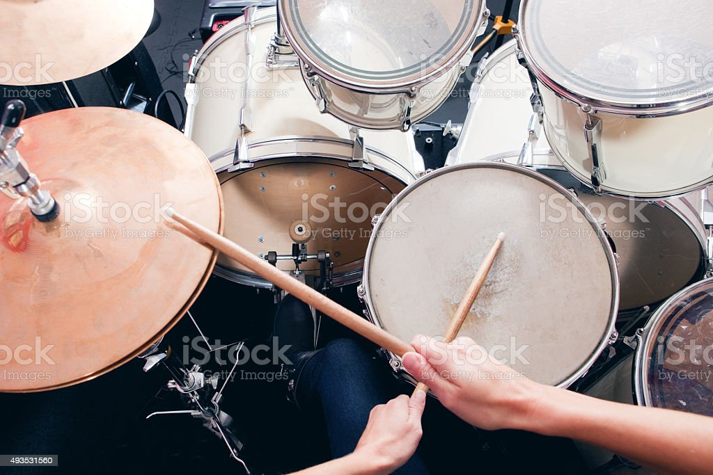 Personal Perspective Of Drummer stock photo
