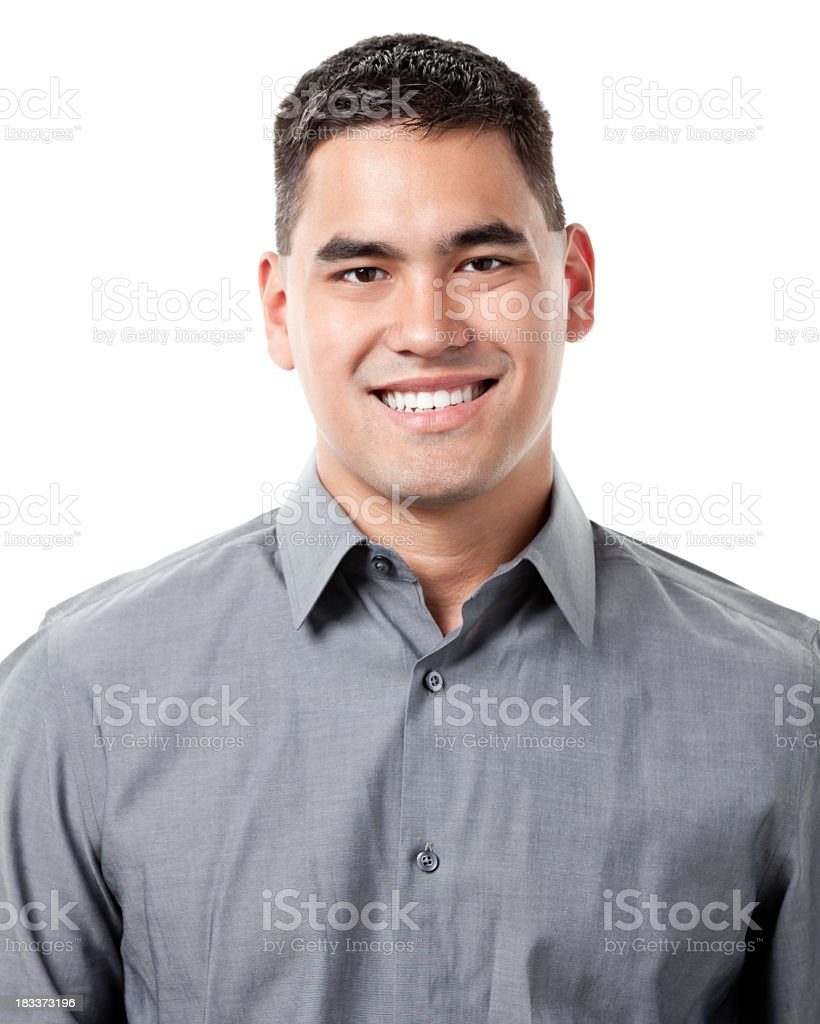 Personal portrait of man smiling  royalty-free stock photo