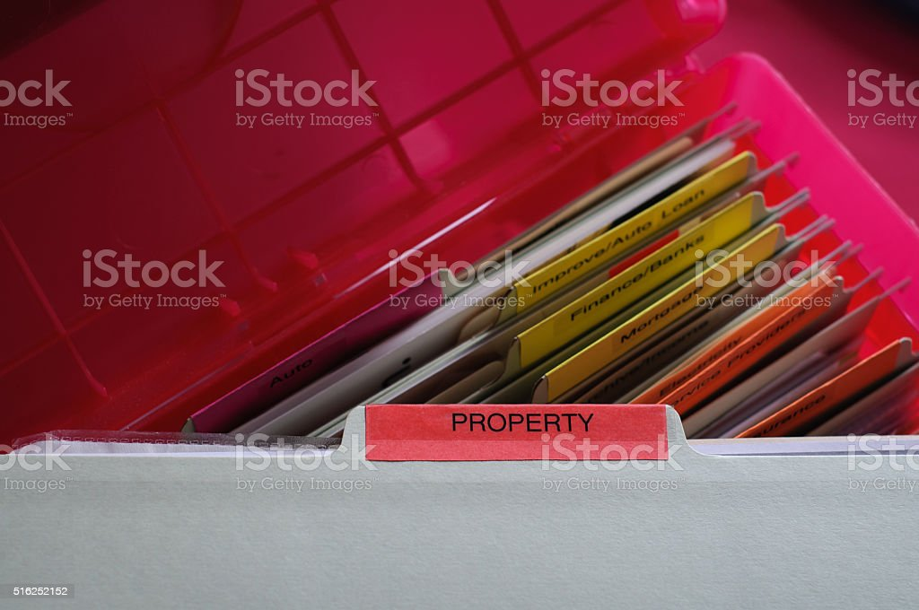 Personal Property Documents stock photo