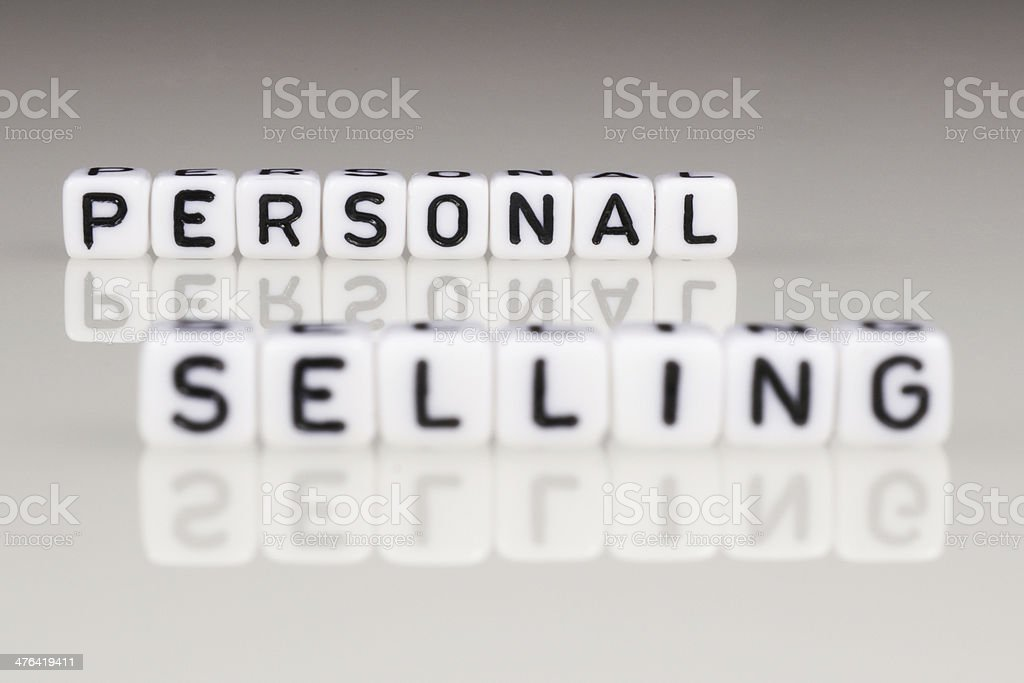 Personal Selling royalty-free stock photo