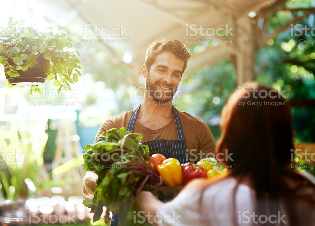 Personal service at it's best stock photo