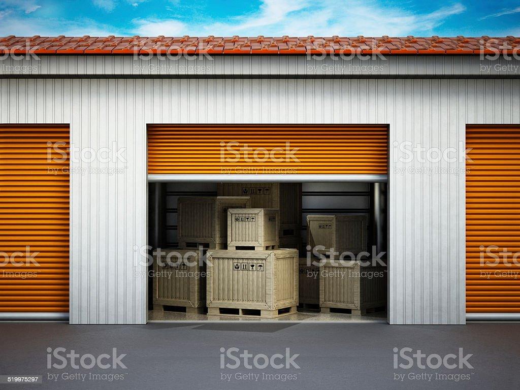 Personal storage unit stock photo
